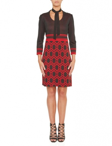 Ana Alcazar Shift Dress Kiley Red