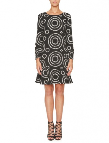 Ana Alcazar Volant Dress Karmily Dark