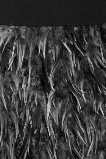 Ana Alcazar Black Label Feather Cocktaildress Juvensy