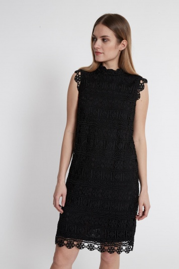 Ana Alcazar Lace Dress Saime Black