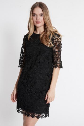 Ana Alcazar A-Shaped Dress Saide Black