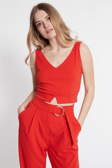 Ana Alcazar V-Top Saxose Red