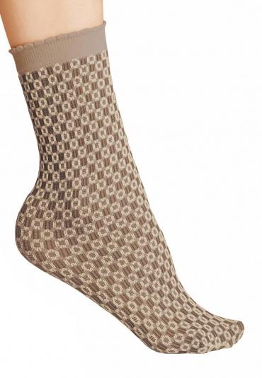 FALKE Tricot Eyelet Anklet Socks Walnut