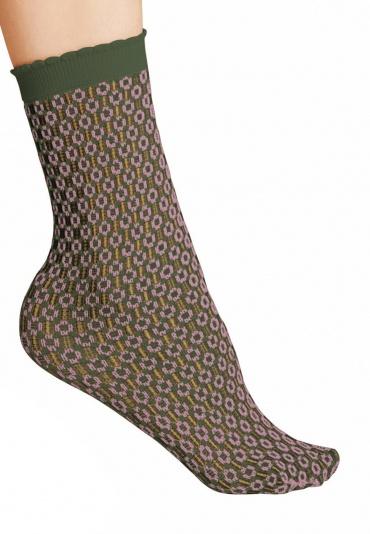 FALKE Tricot Eyelet 50 DEN Anklets Mistletoe