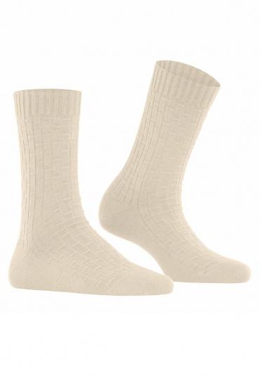 FALKE Impulse Rib Offwhite Women Socks