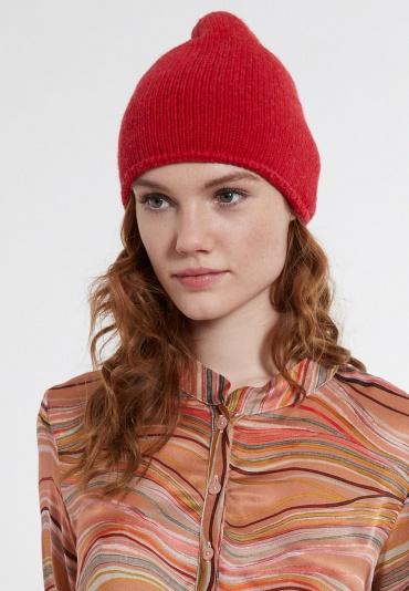 Mütze Beanie-Cherry mit Kaschmiranteil
