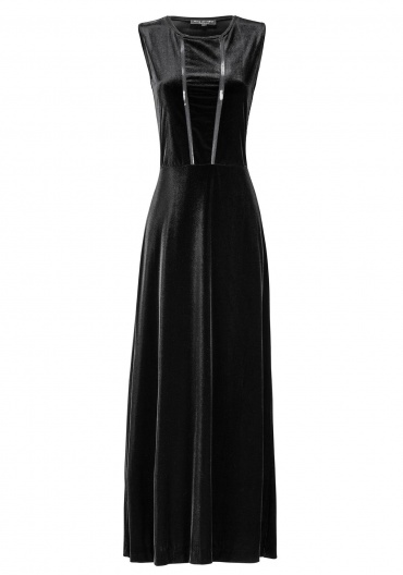 Ana Alcazar Velvet Maxi Dress Emonary