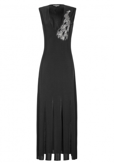 Ana Alcazar Fringes Maxi Dress Esthassy
