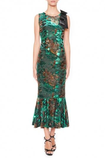 Ana Alcazar Velvet Volant Dress Lajes