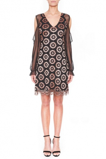 Ana Alcazar Lace Cocktail Dress Leonesty