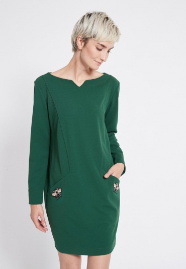 Ana Alcazar Wide Dress Rosmy Green