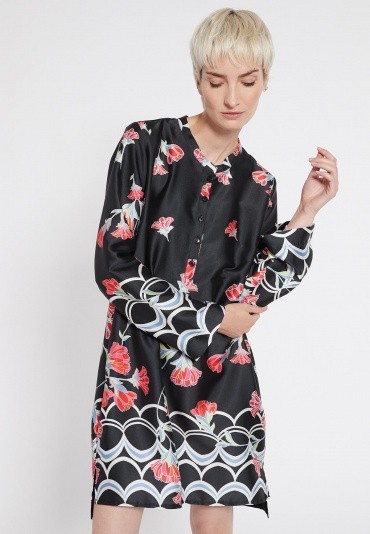 Ana Alcazar Blouse Dress Sefris Black