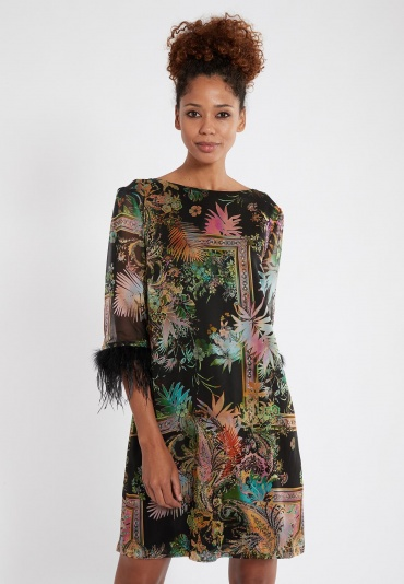 Ana Alcazar Sleeve Dress Sekona Black