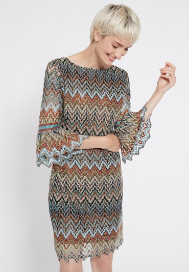 Ana Alcazar Volant Sleeve Dress Sosusi