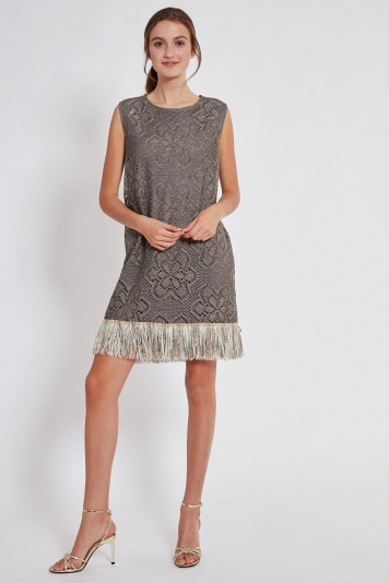 Ana Alcazar Fringe Dress Taimy