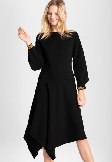 Ana Alcazar Midi Dress Vadula Black