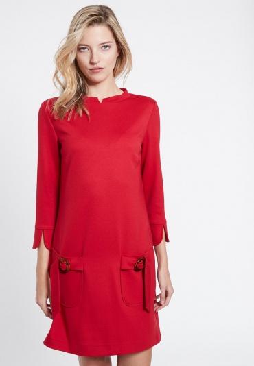 Ana Alcazar Sixties Kleid Vafancy Rot