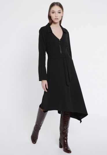 Ana Alcazar Zip Dress Vafery Black