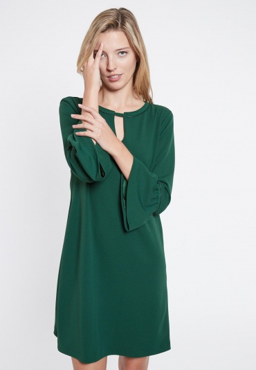 Ana Alcazar A-Shaped Dress Vafemi Green