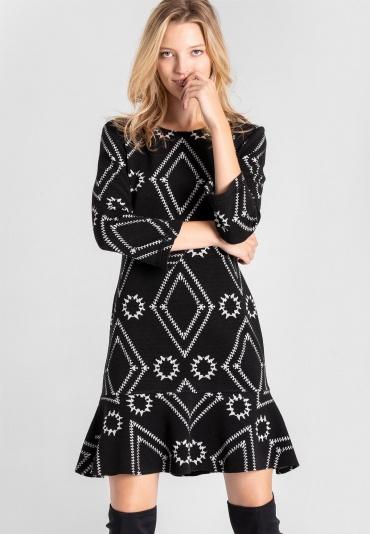 Ana Alcazar Volant Dress Vafomi Black