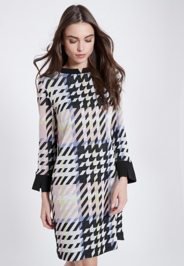 Ana Alcazar Sixties Dress Velmoroy Grey