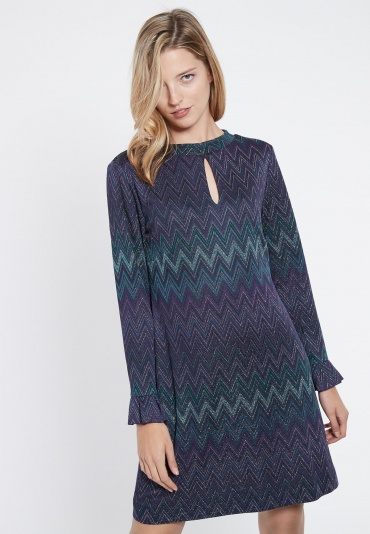 Ana Alcazar Tunic Dress Vubasi Blue