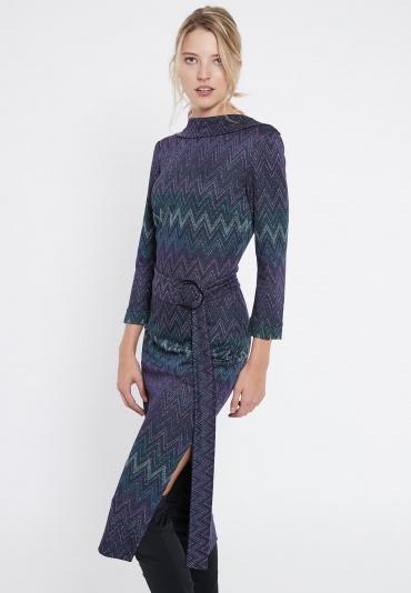 Ana Alcazar Midi Dress Vurinty Blue