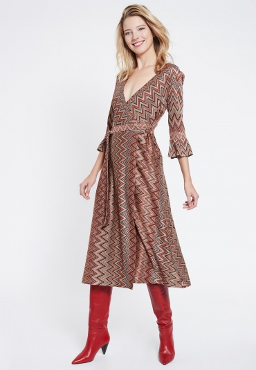 Ana Alcazar Wrapdress Vulbora Brown