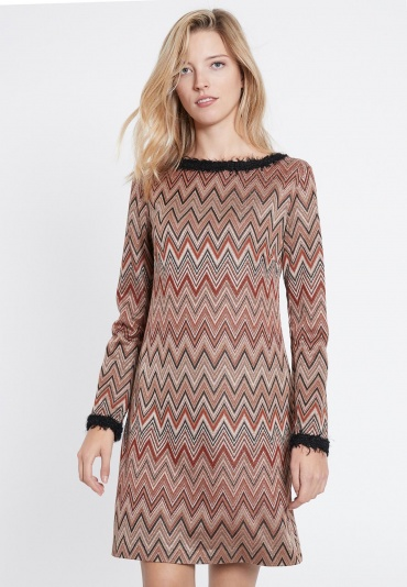 Ana Alcazar A-Shaped Dress Vulmari Brown