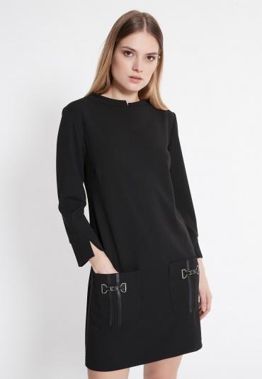 Ana Alcazar Pocket Dress Wagosa Black