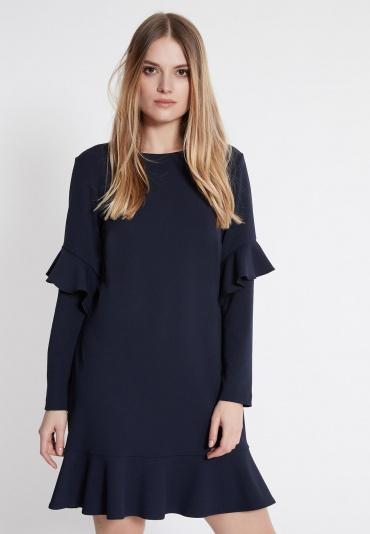 Ana Alcazar Volant Dress Waisy Blue