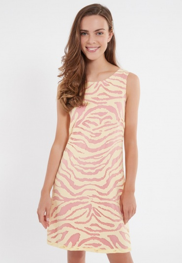 Ana Alcazar A-Shaped Dress Zapya Yellow-Pink