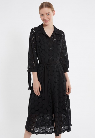 Ana Alcazar Blouse Dress Zekos Black
