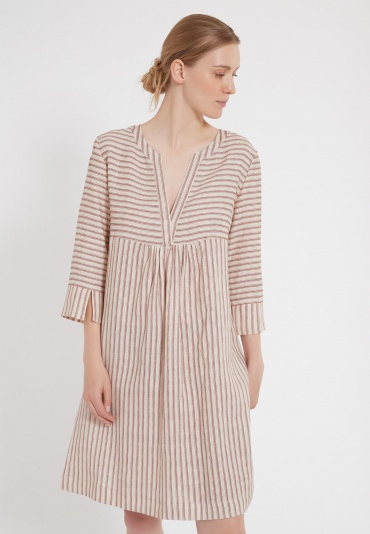 Ana Alcazar Smock Dress Zema Dark-Beige