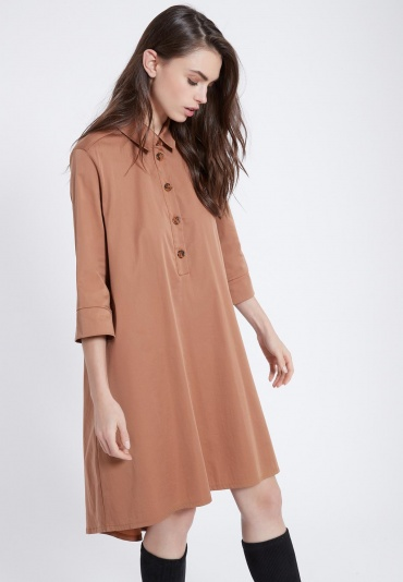 Ana Alcazar Blouse Dress Zepoa Brown