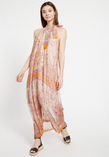 Ana Alcazar Silk Maxi Dress Zezei