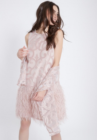 Ana Alcazar Feathers Dress Abora