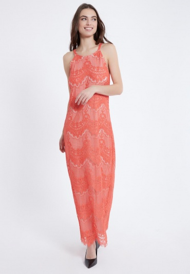 Ana Alcazar Maxi Dress Afrea Red-White