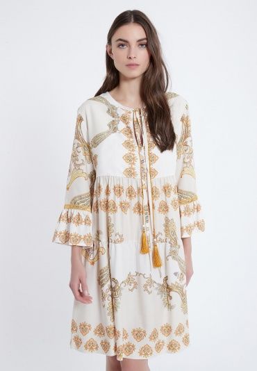 Ana Alcazar Short Boho Dress Apta