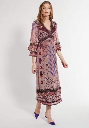 Long Hippie Dress Cava