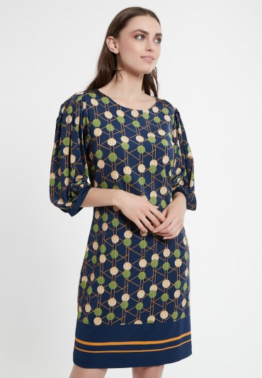 Puff Sleeve Dress Cedyla