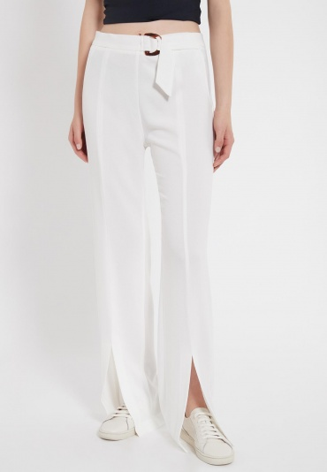 Ana Alcazar Long Trousers Zubla White