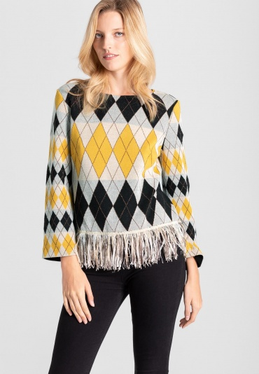 Ana Alcazar Long Sleeve Top Vekoni Yellow