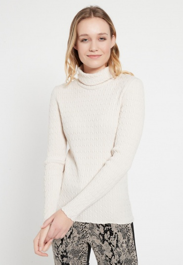 Turtleneck Sweater Bialy