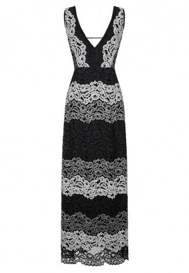 Ana Alcazar Maxi Dress Black Flacony