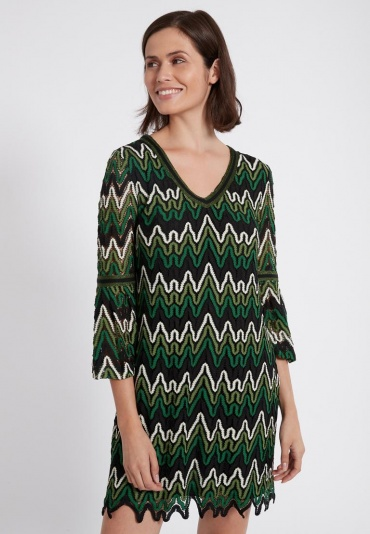Ana Alcazar Mini Dress Photea Green
