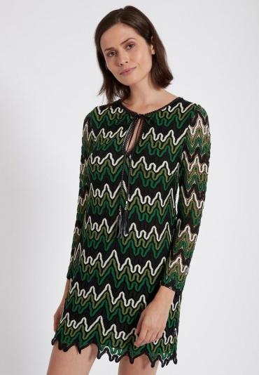 Ana Alcazar Tunic Dress Photany Green