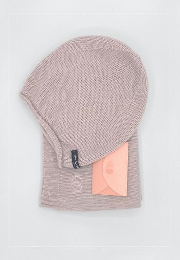 Geschenkset BLUSH  Schal + Mütze + 50€ Gutschein
