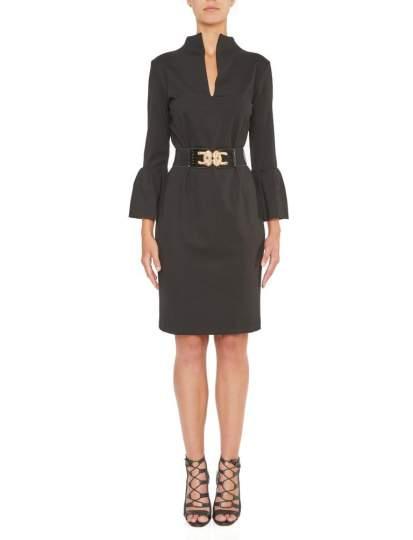 Vorderansicht von Ana Alcazar Elegantes Kleid Kleo  angezogen an Model