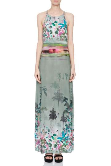 Front of Ana Alcazar Maxi Dress Nizany  worn by model